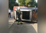 В Краснодаре во время ДТП иномарка вылетела на тротуар и насмерть сбила женщину