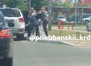 В Краснодаре неизвестные похитили человека и увезли в машине. Видео