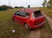 В Ейском районе пьяная женщина на иномарке вылетела с трассы и перевернулась