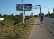 На Яблоновском мосту за одну ночь сразу два автобуса врезались в габаритные рамы