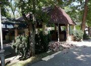 В Городском саду Краснодара начали сносить незаконное кафе
