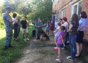 В Крымске полицейские показали школьникам питомник служебных собак