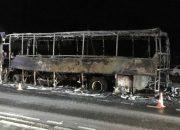 Для пассажиров сгоревшего под Геленджиком автобуса организовали трансфер
