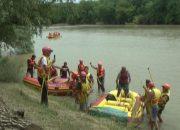 В Краснодарском крае прошел патриотический сплав по реке Кубань