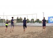 Игрок ВК «Динамо» Надежда Макрогузова дала мастер-класс по пляжному волейболу