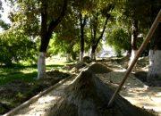В Крымске идет большая реконструкция старого парка на улице Свердлова