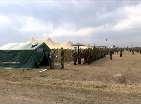 Казаки приняли участие в военно-полевых сборах на полигоне в Молькино