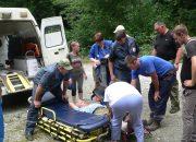 В Мостовском районе турист пошел смотреть водопады и сломал ногу