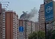 В Краснодаре из-за пожара в квартире эвакуировали жильцов многоэтажки
