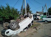 В Славянском районе опрокинулся автомобиль, пострадали двое детей