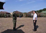 Кондратьев посетил военно-полевые сборы казаков в Молькино