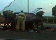 В Темрюкском районе автомобиль столкнулся с бензовозом