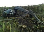 В Каневском районе упал вертолет Ми-2