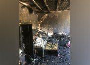 В Новороссийске женщина с двумя детьми оказалась заперта внутри горящего дома