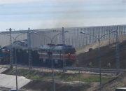 СМИ: очевидец снял на видео поезд на Крымском мосту