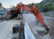В Сочи на месте оползня рабочие восстановят дорогу