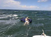 В Темрюкском районе уснувшего на матрасе туриста унесло на 2,5 км в море