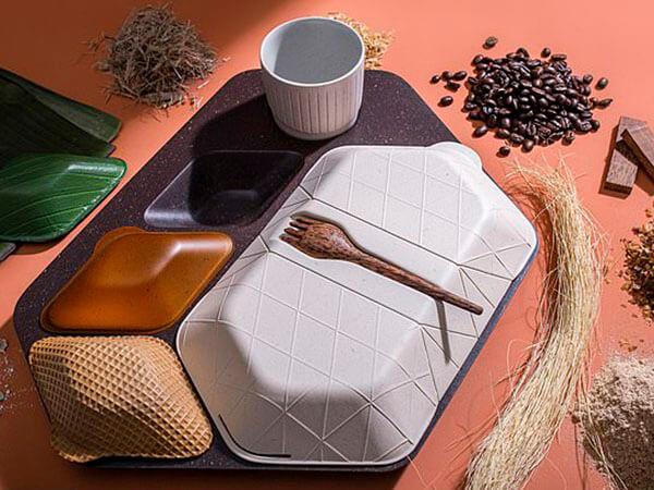 Эко-дизайн: вы можете в полете съесть свой поднос для обеда