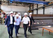 Кондратьев посетил Северо-Кавказский завод металлоконструкций в Успенском районе