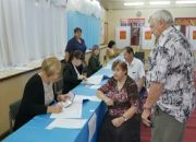 В Кореновском районе первыми проголосовали люди старшего поколения