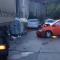 В Сочи фура снесла около десяти автомобилей и остановилась у мусорных баков