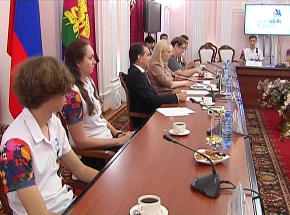 Вениамин Кондратьев встретился с победителями мирового чемпионата WorldSkills
