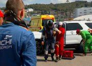 В Сочи кареты скорой помощи устроили гонки на трассе «Формулы-1»