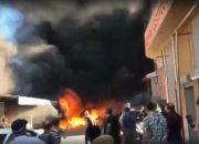 На месте пожара в Геленджике концентрация вредных веществ была в пределах нормы