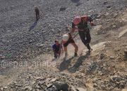 В Анапе туристка из Германии застряла на сыпучем склоне