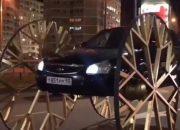 В Краснодаре появилась самая высокая в мире «Приора» с колесами 1,5 м