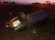 В Ейском районе ВАЗ опрокинулся в кювет, водитель погиб