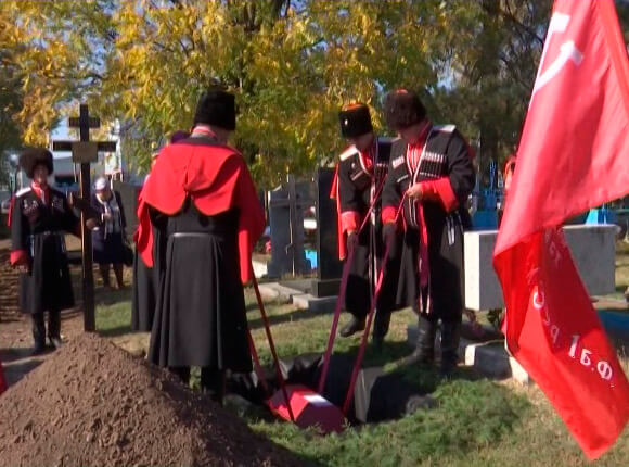 Пропавшего без вести 78 лет назад солдата перезахоронили в Крыловском районе