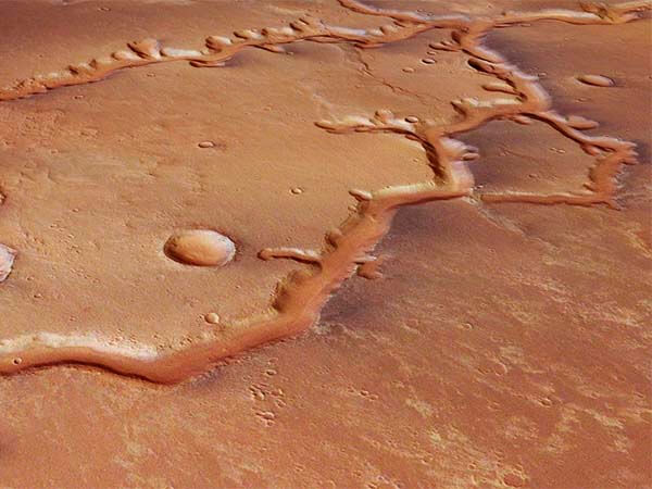 марс, реки