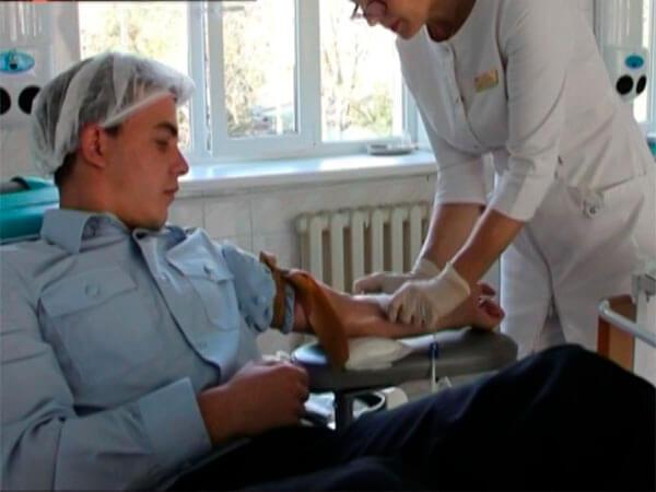 На Кубани сотрудники вневедомственной охраны Росгвардии стали донорами крови