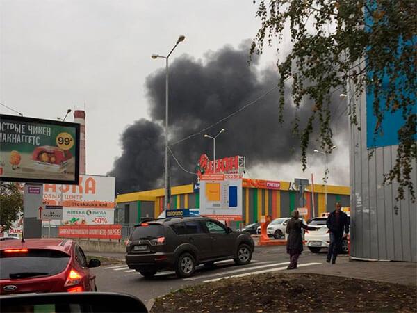 В Краснодаре произошел пожар на пустыре