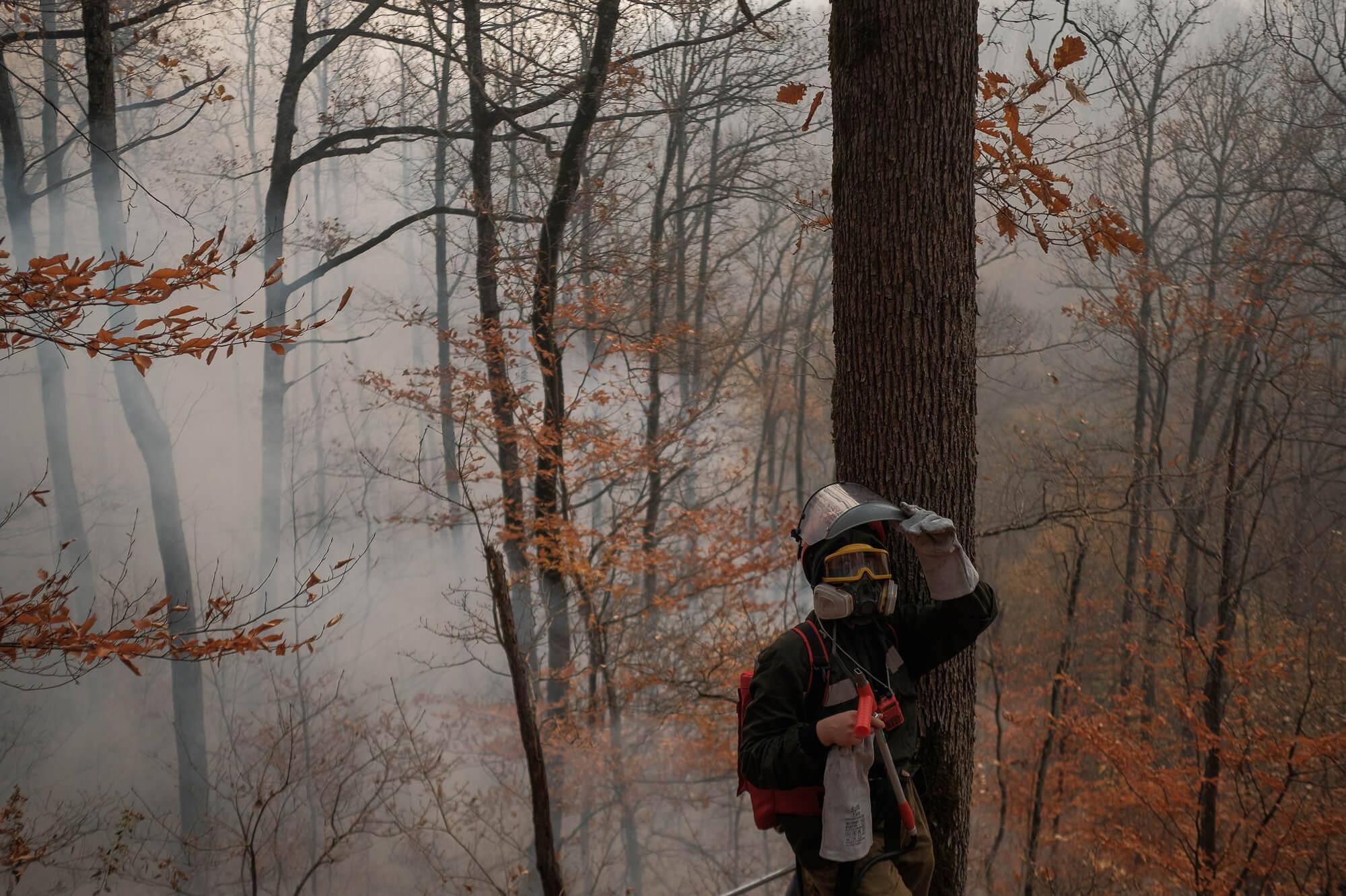 В Северском районе ввели режим ЧС и продолжают бороться с огнем