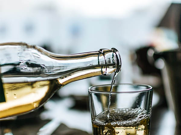 алкоголь, белое вино, новогодние праздники