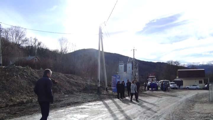 В Мостовском районе открыли новую линию электропередачи