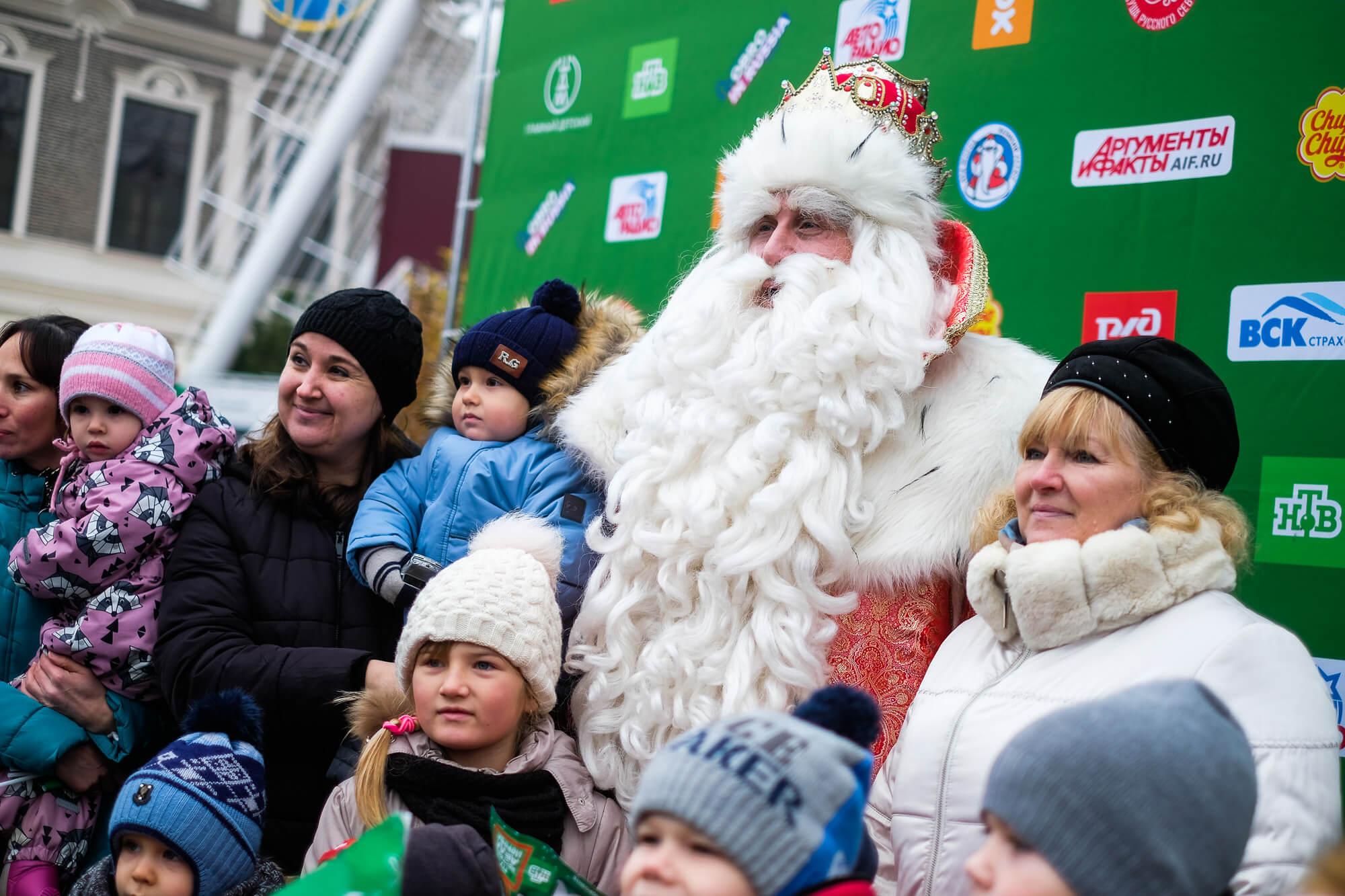 Дед Мороз из Великого Устюга посетил Краснодар