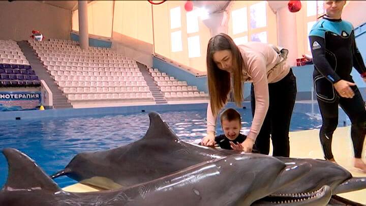Вениамин Кондратьев исполнил мечту пятилетнего сочинца покататься на дельфинах