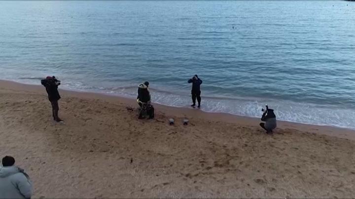 Водолазы зачистили дно купелей на Черноморском побережье и в Краснодаре