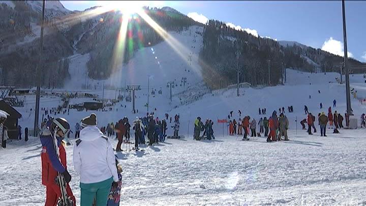 Сочинские горы накрыл снегопад