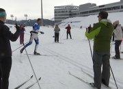 В Сочи на курорте «Газпром» провели открытую тренировку по лыжным гонкам