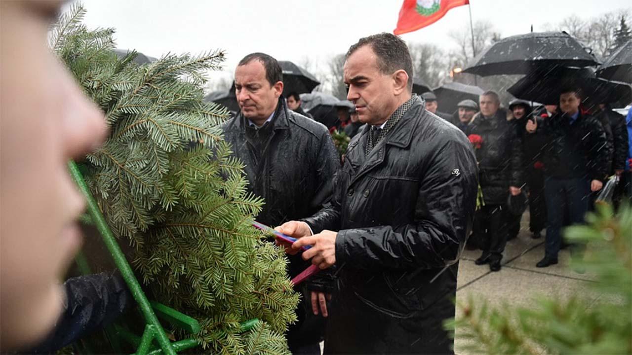 На митинге в честь 77-летия освобождения Краснодара рассказали об оккупации