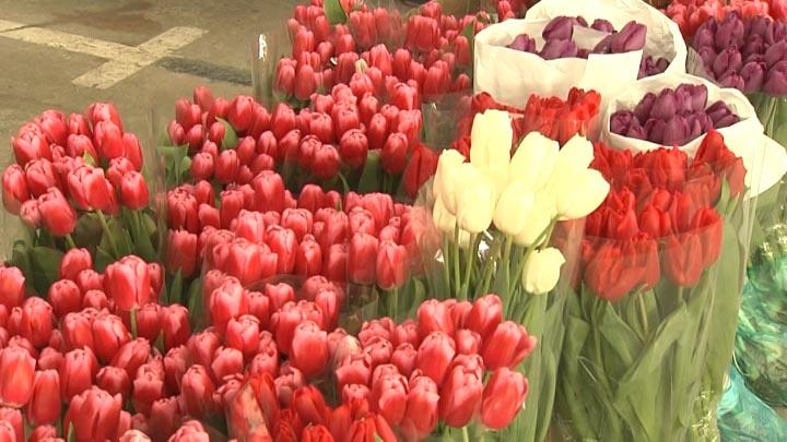 На Кубани поднялись цены на цветы перед Международным женским днем