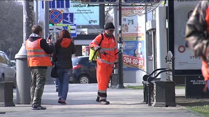 На Кубани общественные места обработали дезинфицирующими растворами