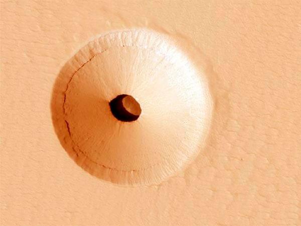 марс, отверстие, дыра, планета
