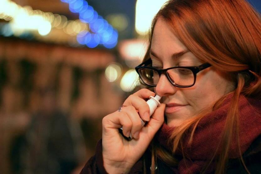 насморк, спрей для носа, зависимость