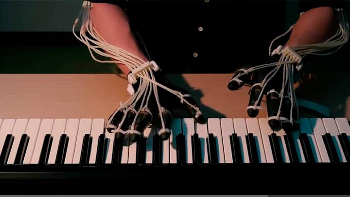 экзоскелет, пианино