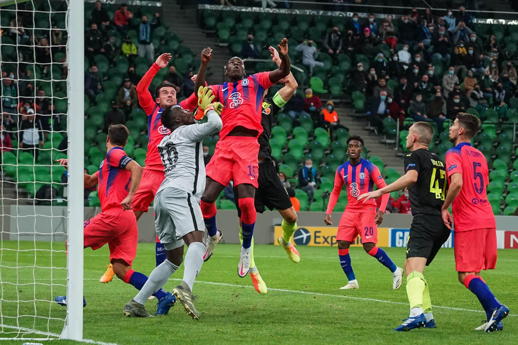 ФК «Краснодар» разгромно уступил «Челси» в матче Лиги чемпионов. Фоторепортаж